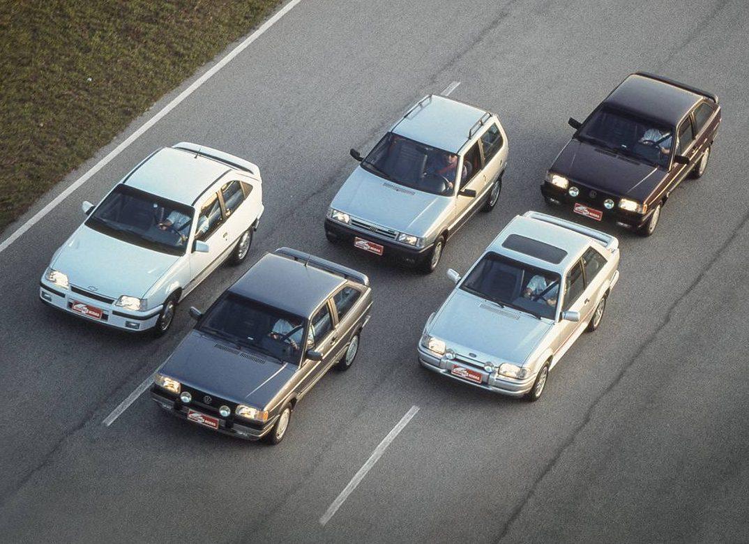 Uno 1.6 R x Gol GTS x Escort XR3 x Gol GTI x Kadett GSi