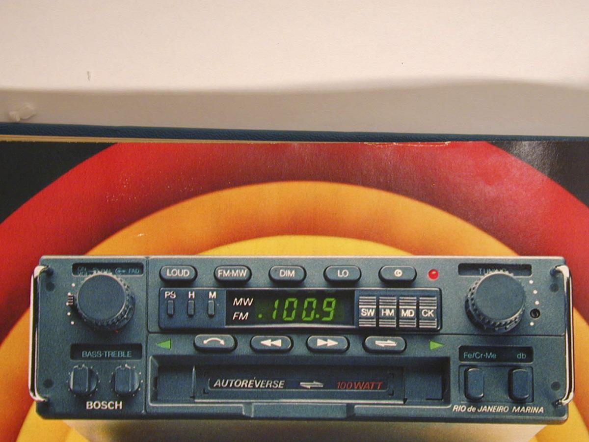 Rádio toca-fitas Rio de Janeiro, da Bosch
