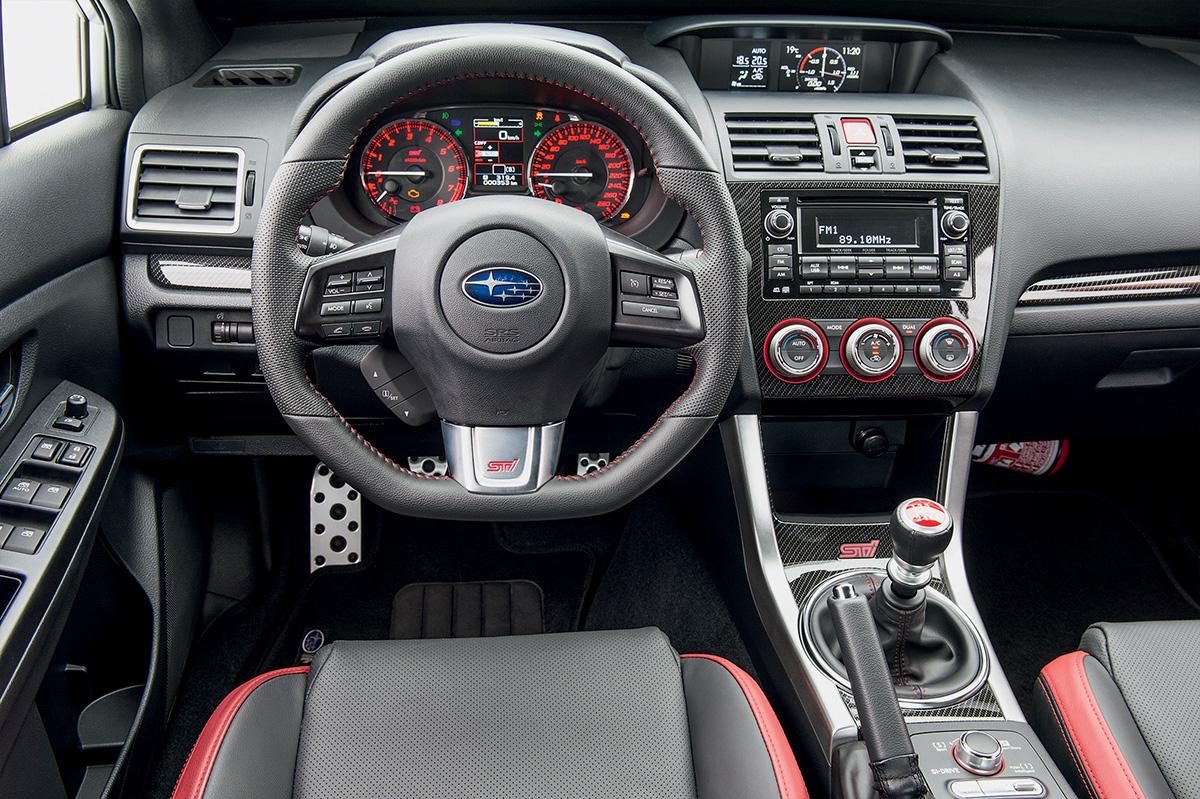 Volante do Subaru oferece melhor empunhadura
