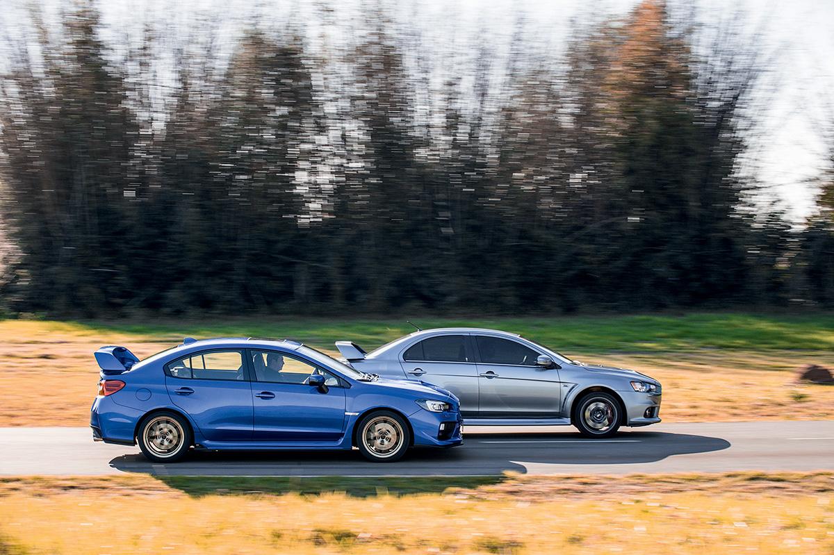 Subaru WRX STI x Mitsubishi Lancer Evo X John Easton