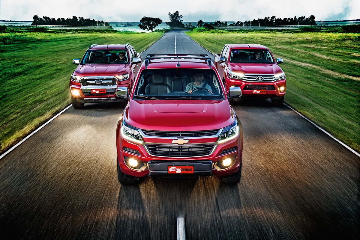 Ford Ranger x Chevrolet S10 x Toyota Hilux