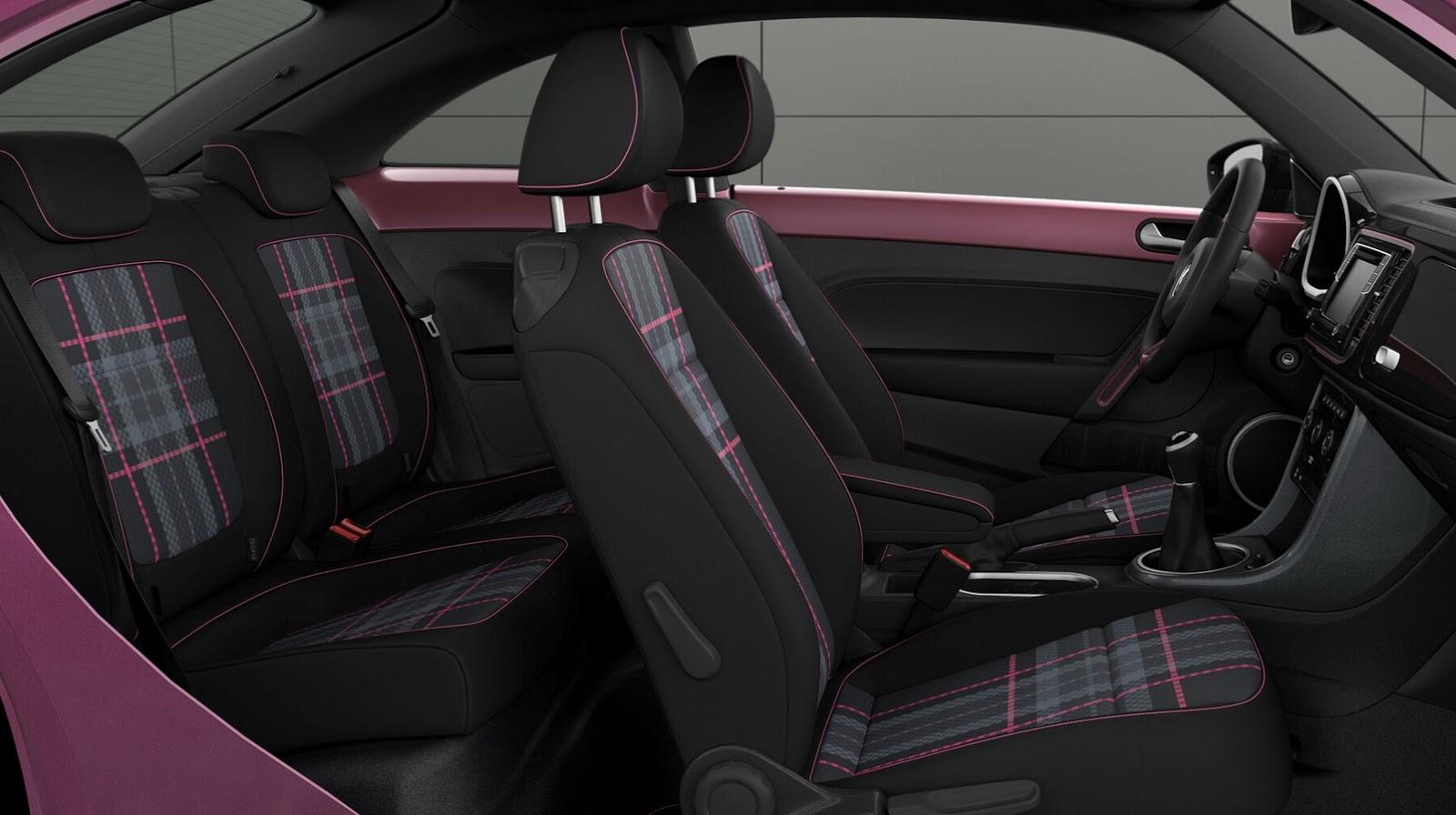 VW #PinkBeetle (interior)