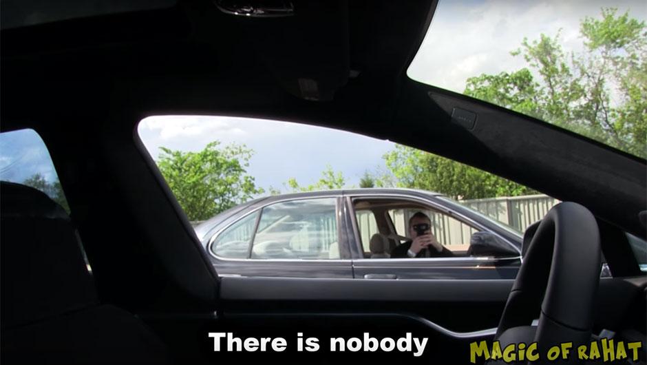 Pegadinha com Tesla Model S