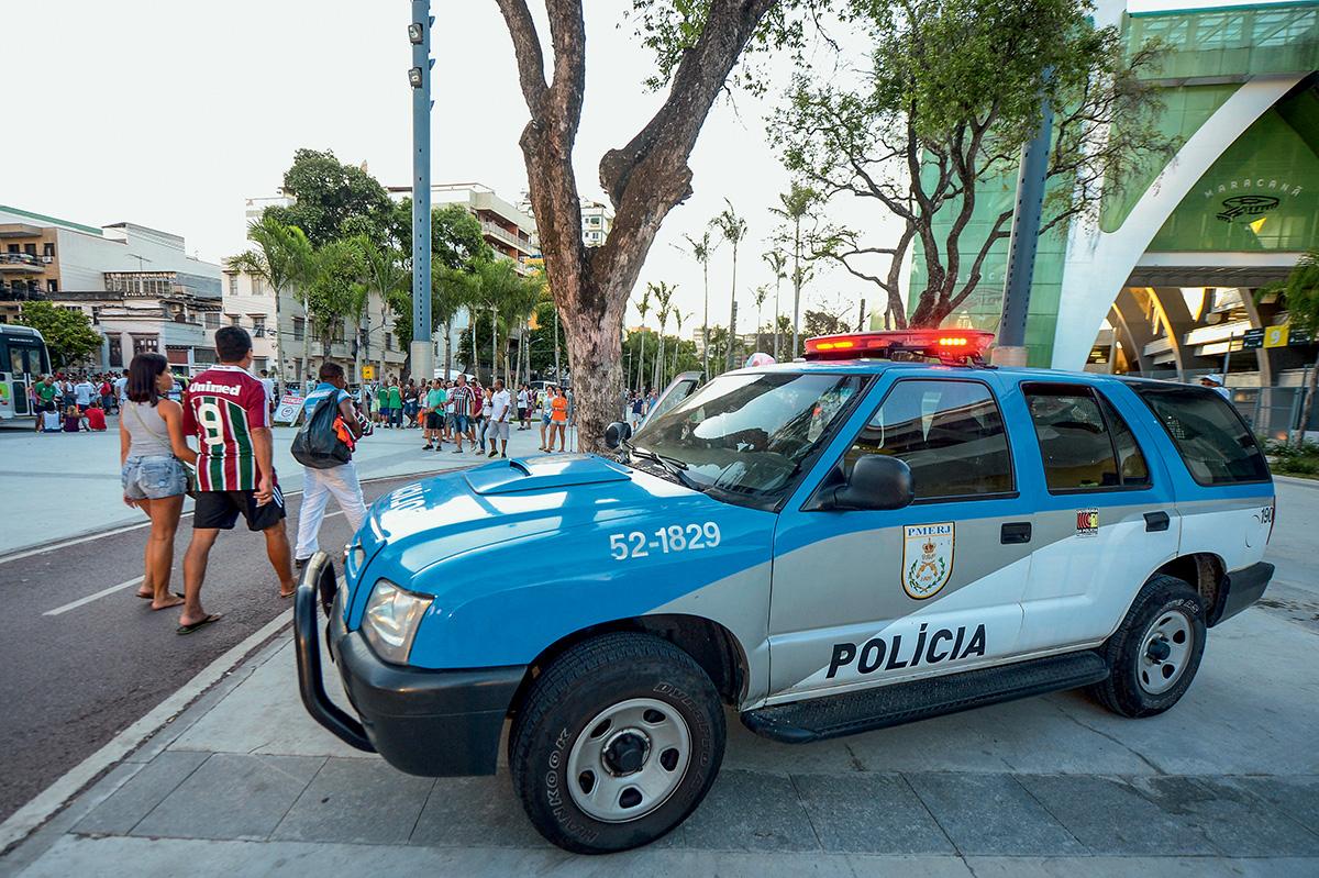 Viatura da polícia no Rio de Janeiro
