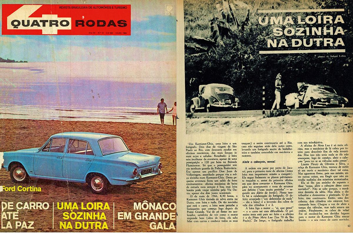 QUATRO RODAS - julho de 1966
