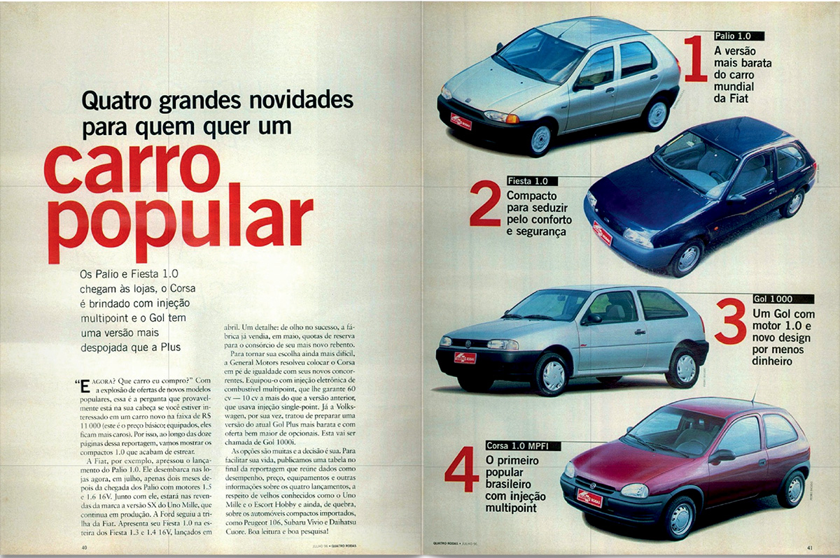 QUATRO RODAS - julho de 1996
