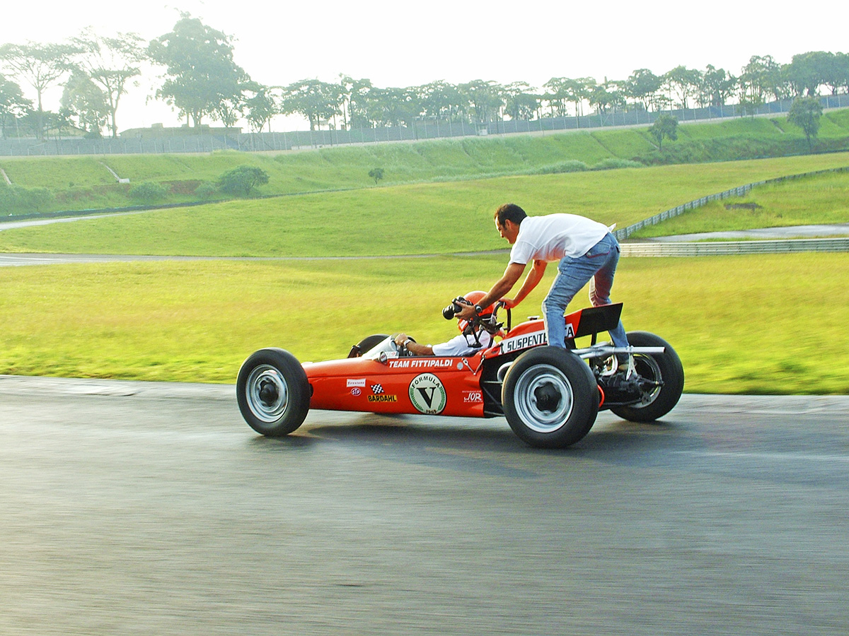 Marco de Bari, fotógrafo, sobre o Fitti-Vê, monoposto de Fórmula Vê, construído