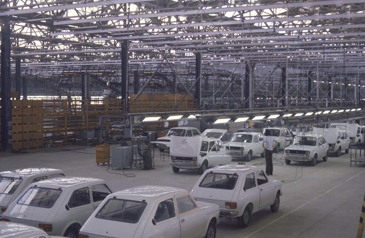 Linha do produção do Fiat 147