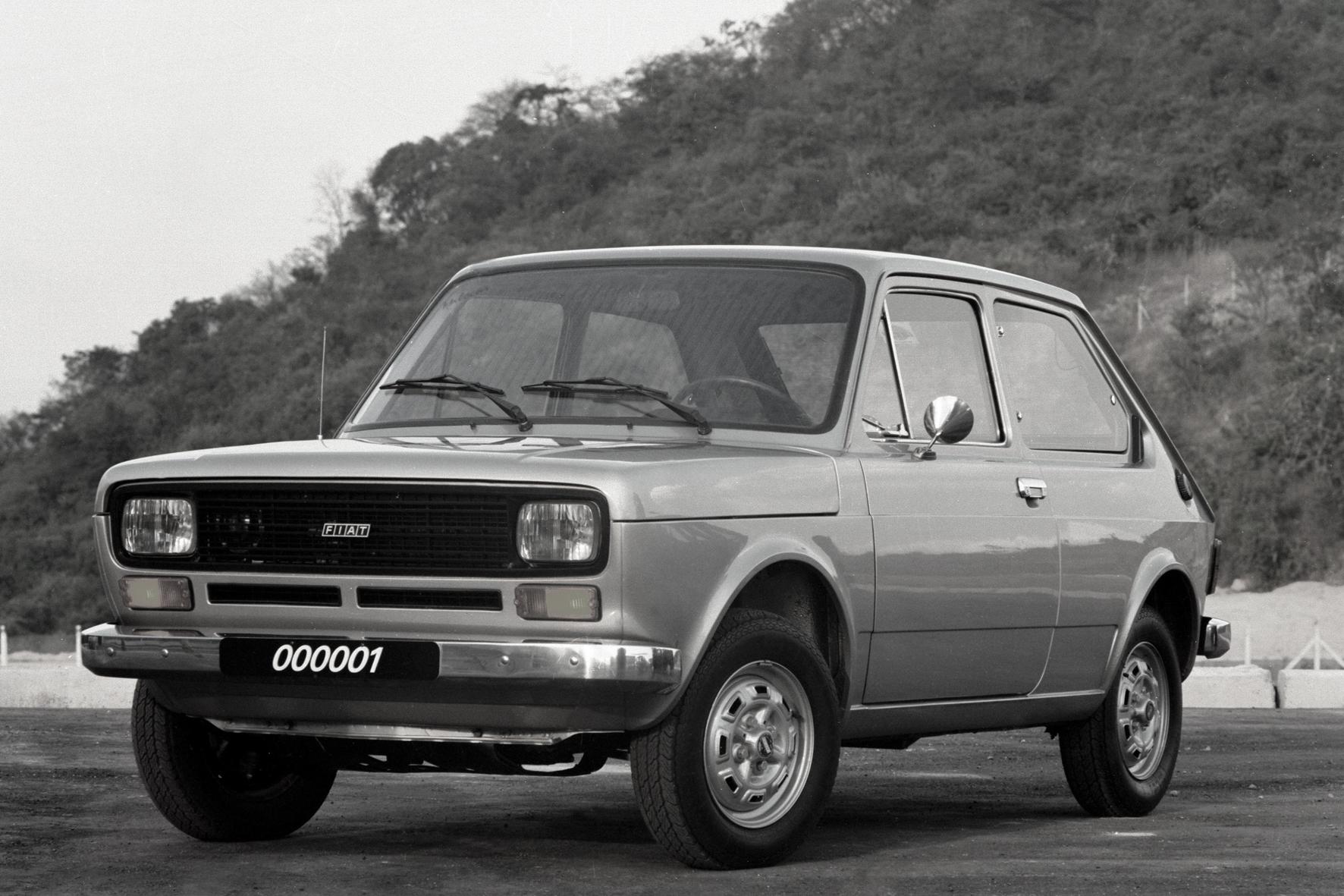 O primeiro Fiat 147 produzido no Brasil