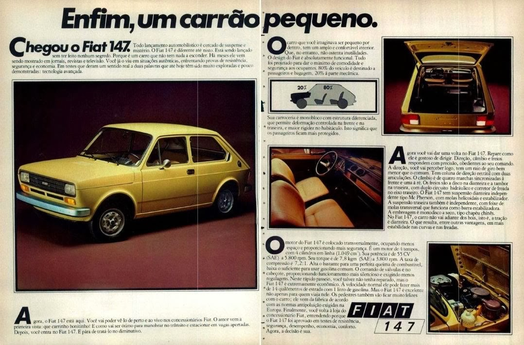 Propaganda do lançamento do Fiat 147