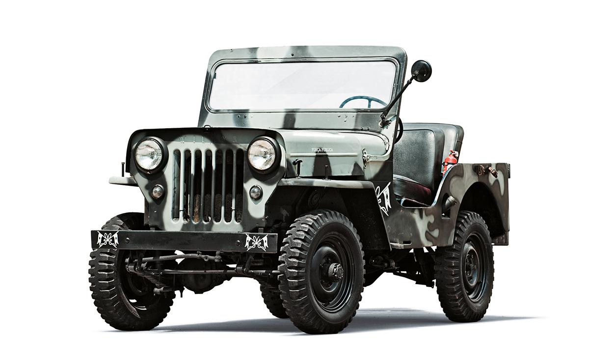 Viaturas policiais - Jeep Willys