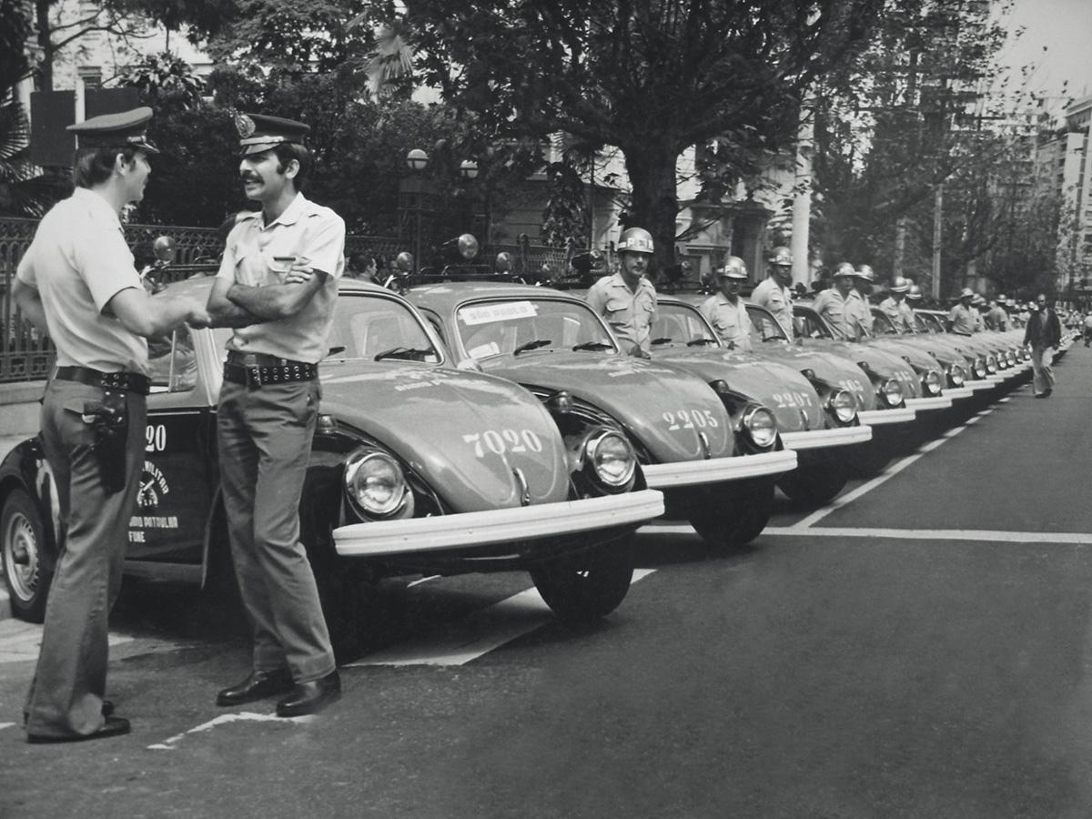 Viaturas policiais - Fusca