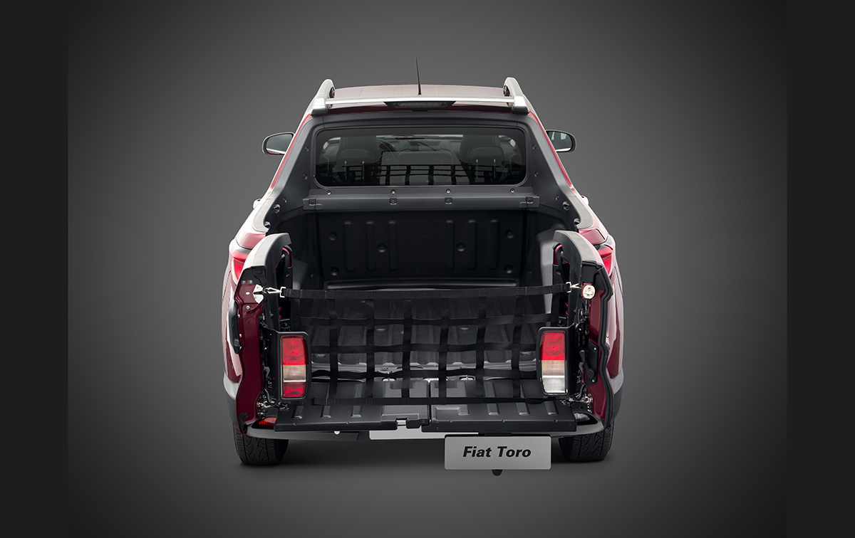 Extensor da caçamba da Fiat Toro