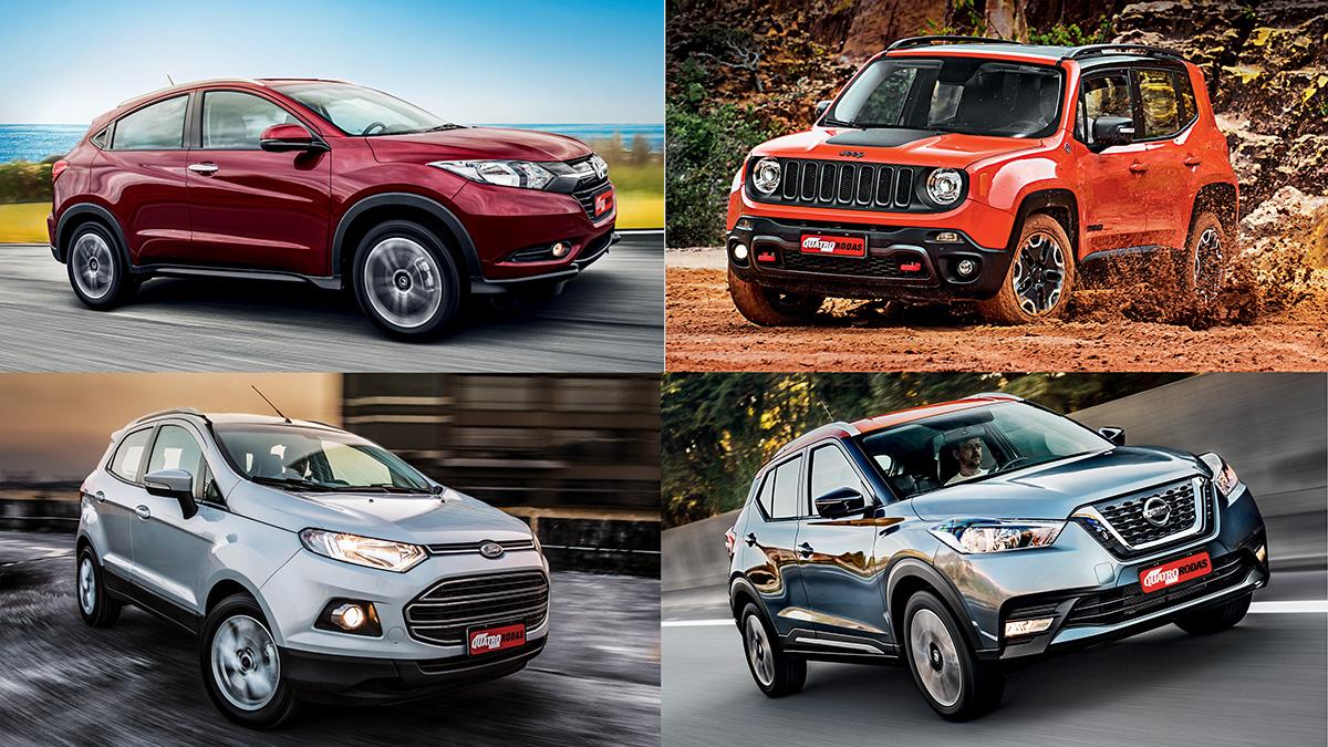 Ranking de testes: retomadas de SUVs compactos