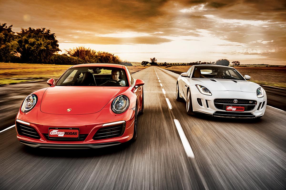 Porsche 911 Carrera S x Jaguar F-Type S