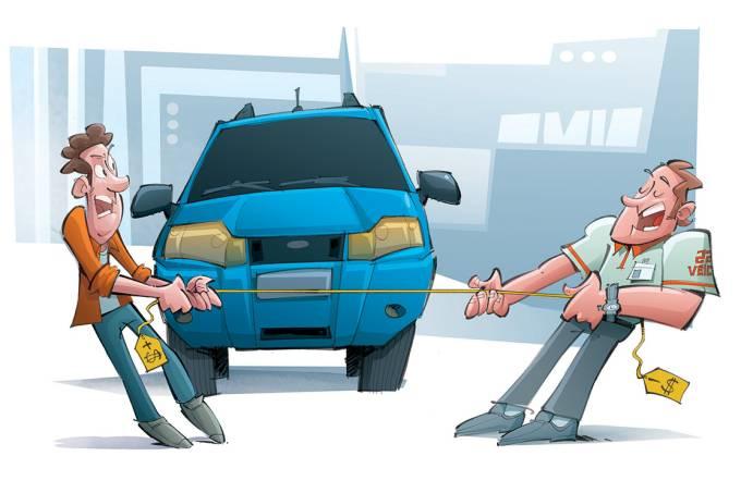 A arte na hora de negociar seu carro