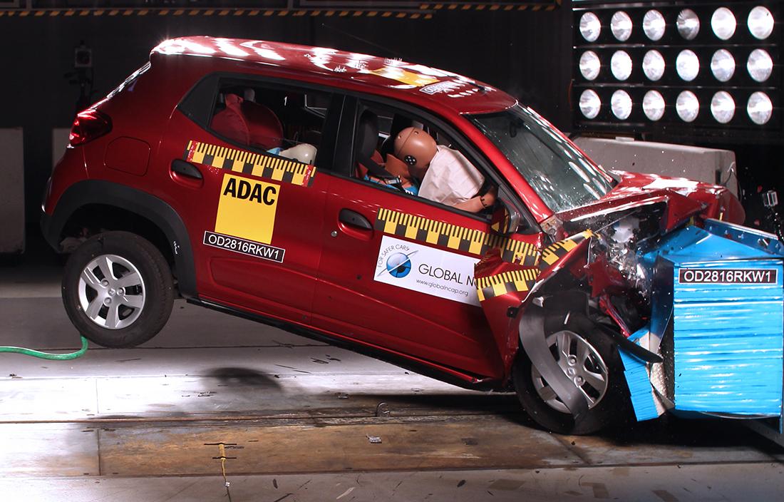 renault Kwid crash test do global ncap