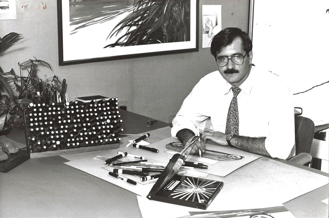 Mesa de trabalho no início dos anos 80