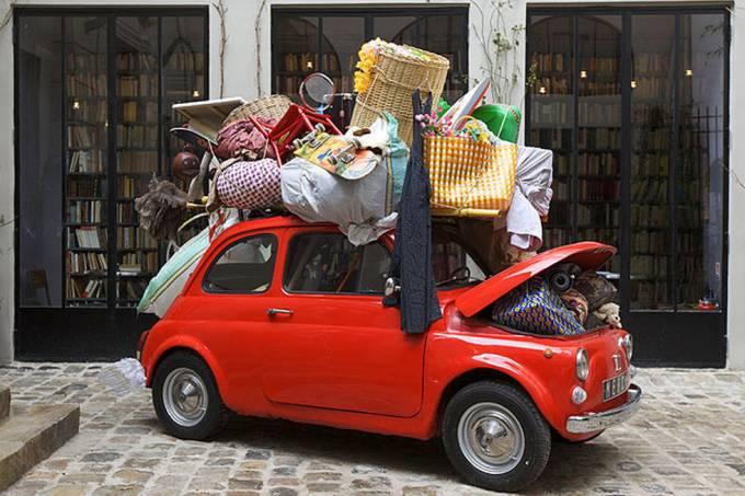 Fiat 500 carregado