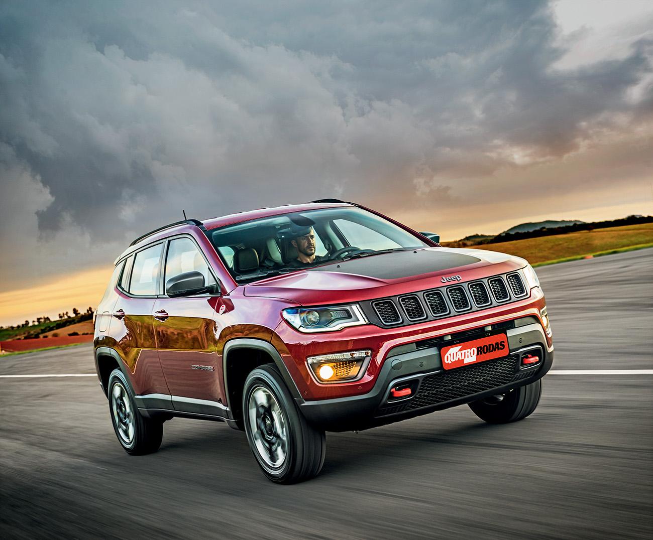 Jeep Compass Trailhawk 2 0 Diesel 4 4 A Prova Da Ambicao Quatro