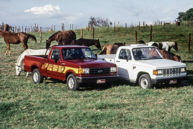 Chevrolet D-20 e Ford F-1000
