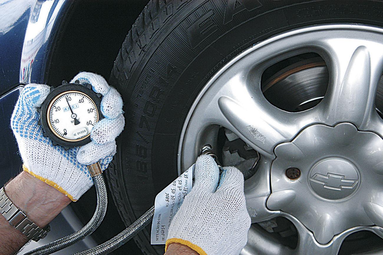 Calibragem do pneu