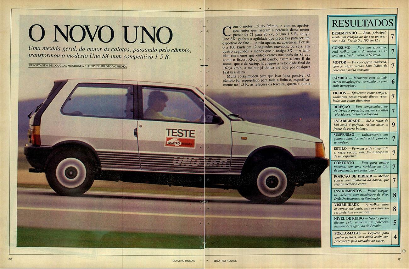 QUATRO RODAS - novembro de 1986