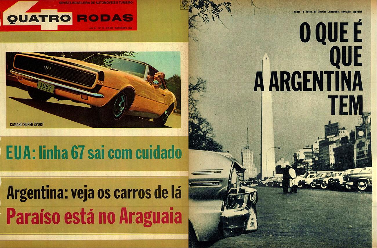 QUATRO RODAS - novembro de 1966
