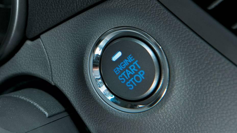 Botão de partida no lugar da chave