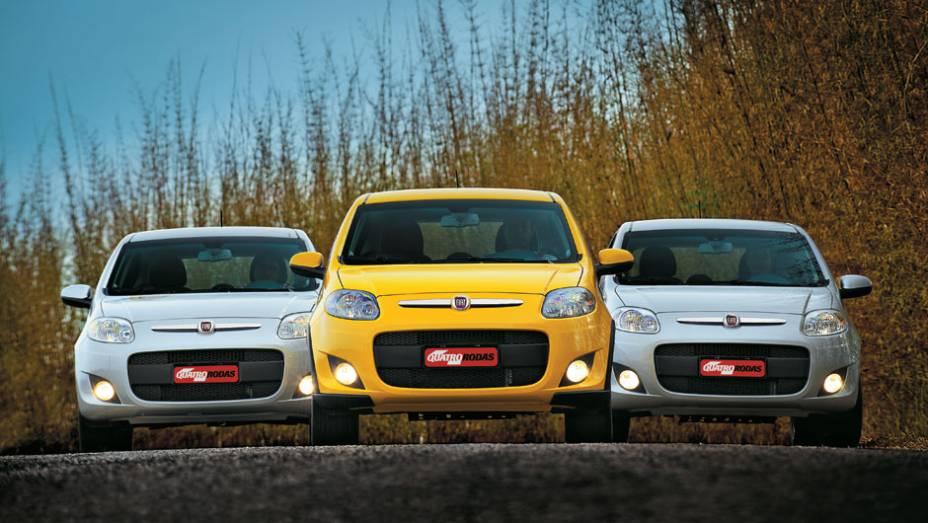 3º: Fiat Palio - nada mais natural para o novo líder do mercado do que estar entre os modelos mais procurados; o compacto da Fiat vem se mantendo no primeiro lugar das vendas em 2015, comprovando o interesse do público no carro