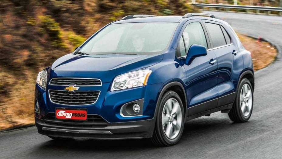 """O estilo é 100% Chevrolet: mistura de Cruze com Spin   <a href=""""http://quatrorodas.abril.com.br/carros/impressoes/chevrolet-trax-725231.shtml"""" rel=""""migration"""">Leia mais</a>"""