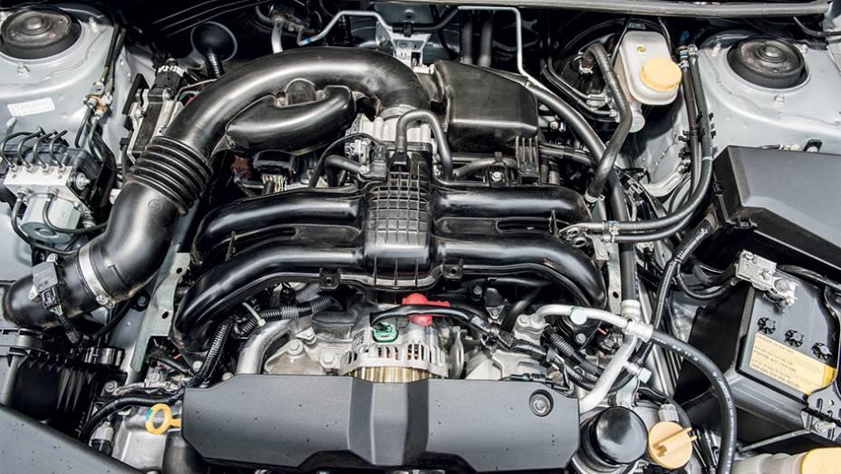 """Motor boxer acorda só acima de 4200 rpm   <a href=""""http://quatrorodas.abril.com.br/carros/impressoes/subaru-xv-765442.shtml"""" rel=""""migration"""">Leia mais</a>"""