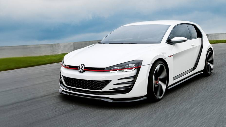 "A base é a mesma do Golf, mas o visual é exclusivo | <a href=""http://quatrorodas.abril.com.br/carros/impressoes/volkswagen-design-vision-gti-772455.shtml"" rel=""migration"">Leia mais</a>"