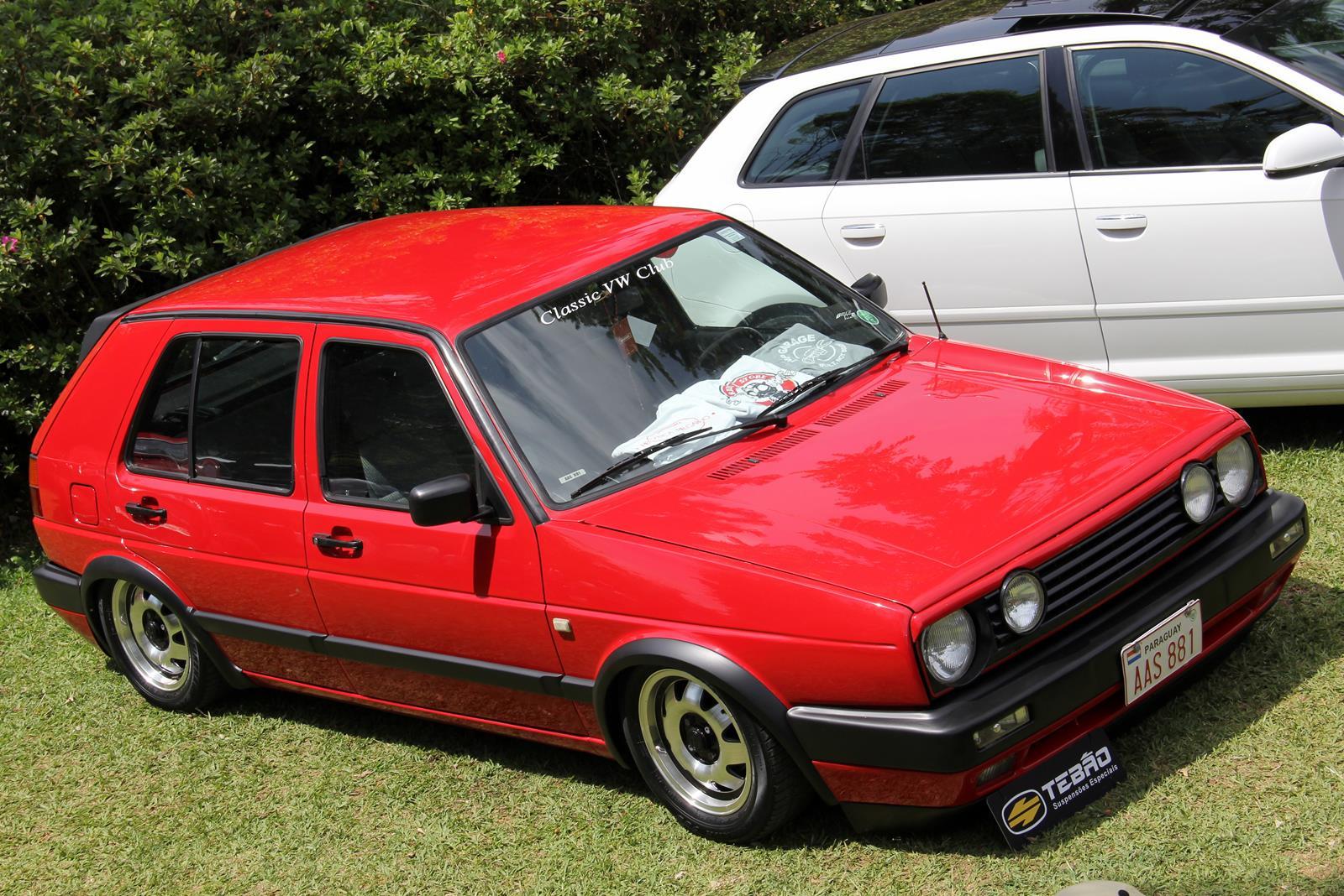 Golf MK2 paraguaio. Lá fora esta geração durou de 1983 a 1992