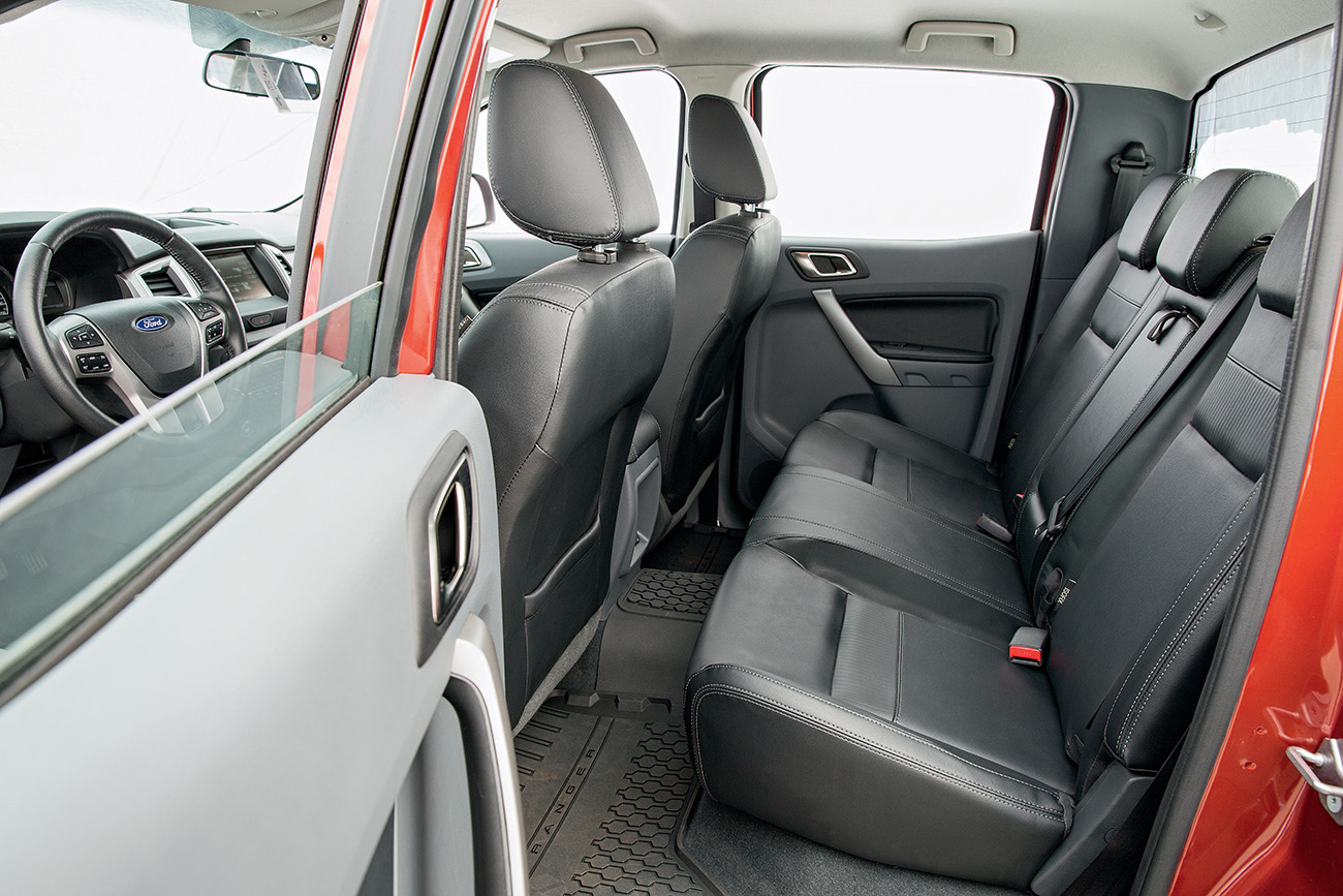 Por dentro, grande diferencial da Ranger são os sete airbags de série