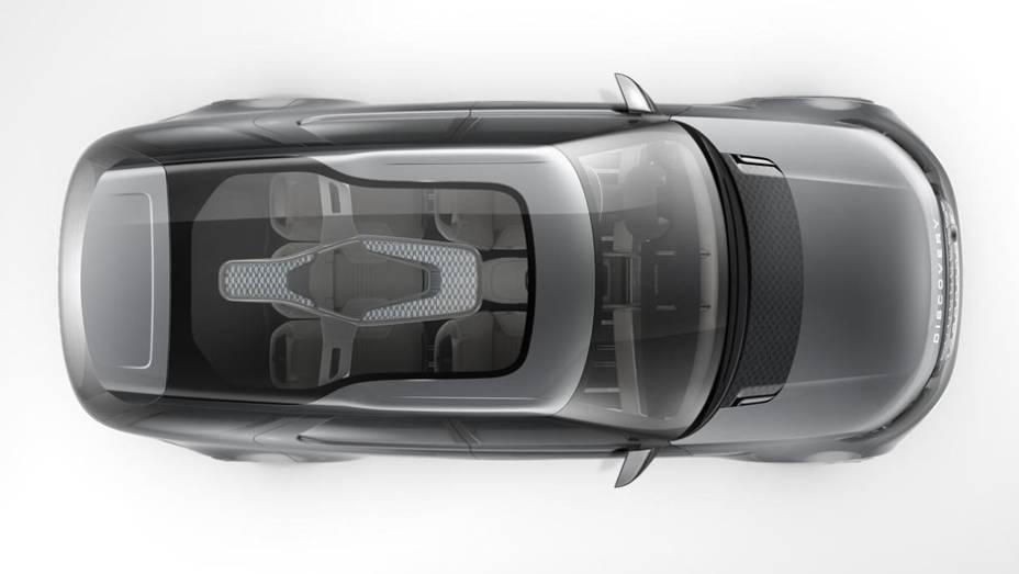 """Teto transparente é um dos charmes do Discovery Vision Concept   <a href=""""http://quatrorodas.abril.com.br/noticias/fabricantes/land-rover-lanca-conceito-discovery-vision-779837.shtml"""" rel=""""migration"""">Leia mais</a>"""