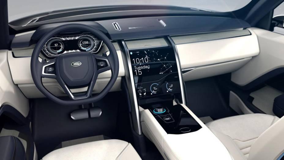 """Visual moderno e limpo do Discovery Vision Concept inspira nova linha da Land Rover   <a href=""""http://quatrorodas.abril.com.br/noticias/fabricantes/land-rover-lanca-conceito-discovery-vision-779837.shtml"""" rel=""""migration"""">Leia mais</a>"""