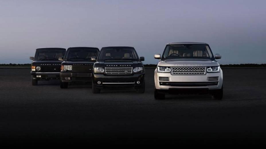 """Linhagem Range Rover   <a href=""""http://quatrorodas.abril.com.br/saloes/paris/2012/range-rover-702581.shtml"""" rel=""""migration"""">Leia mais</a>"""