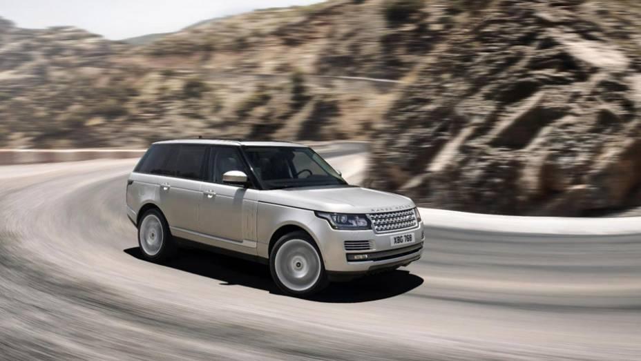 """No Reino Unido, Landr Rover Range Rover terá as opções de motor 3.0 V6 biturbo diesel, 4.4 V8 biturbodiesel e 5.0 V8 Supercharger gasolina   <a href=""""http://quatrorodas.abril.com.br/noticias/mercado/land-rover-ranger-rover-custara-r-229-000-r-u-700829.sht"""" rel=""""migration""""></a>"""