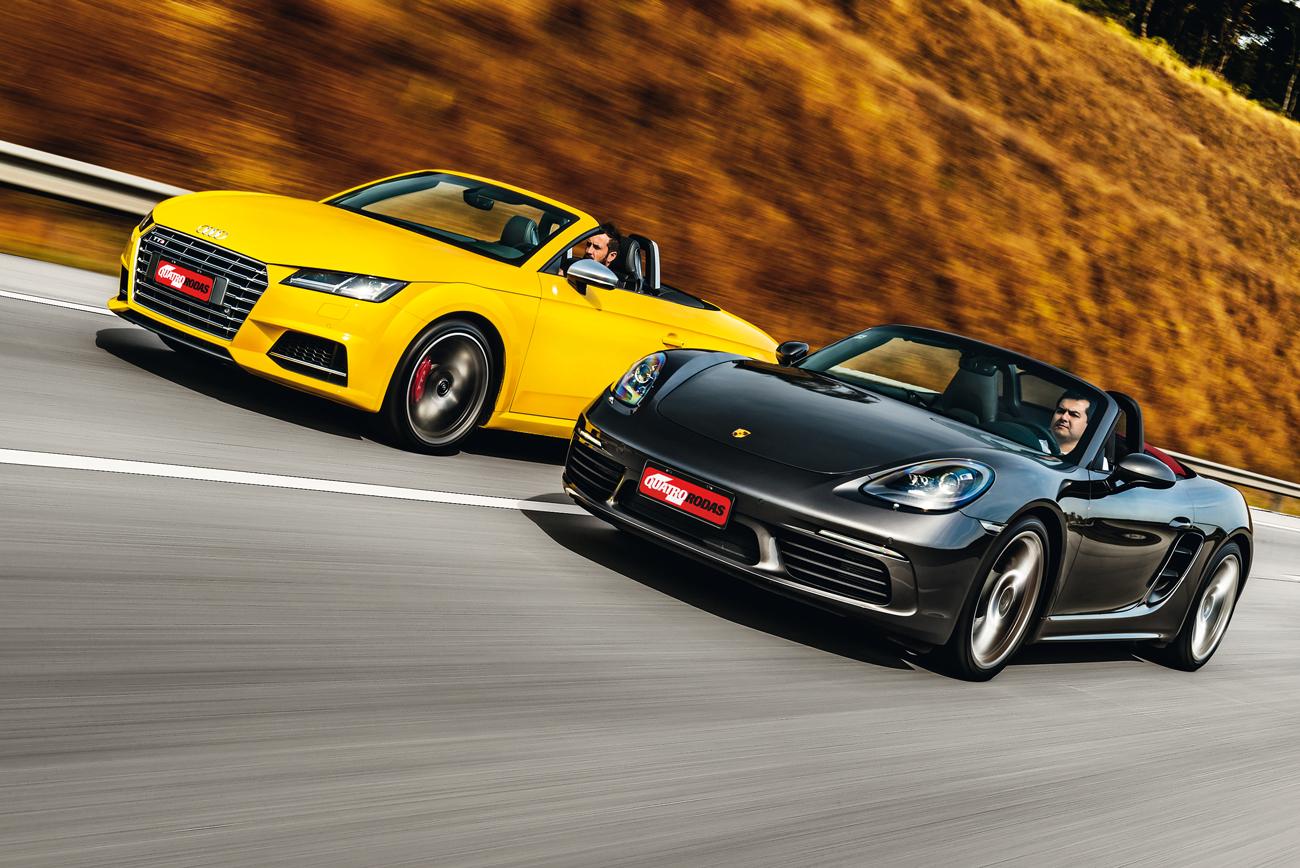 A dupla tem muito em comum: alemães, dois lugares, motor turbo e preço com seis dígitos