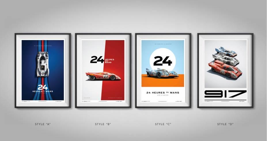 Coleção de posteres da Porsche