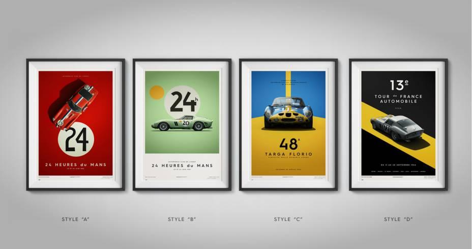 Coleção de Posteres da Ferrari 250 GTO