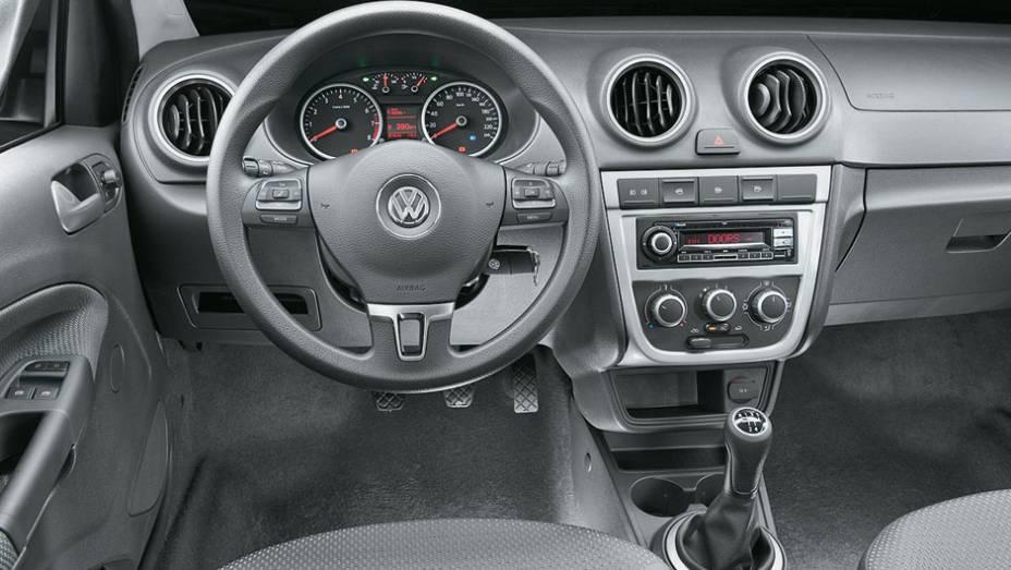 Comandos no volante: item opcional