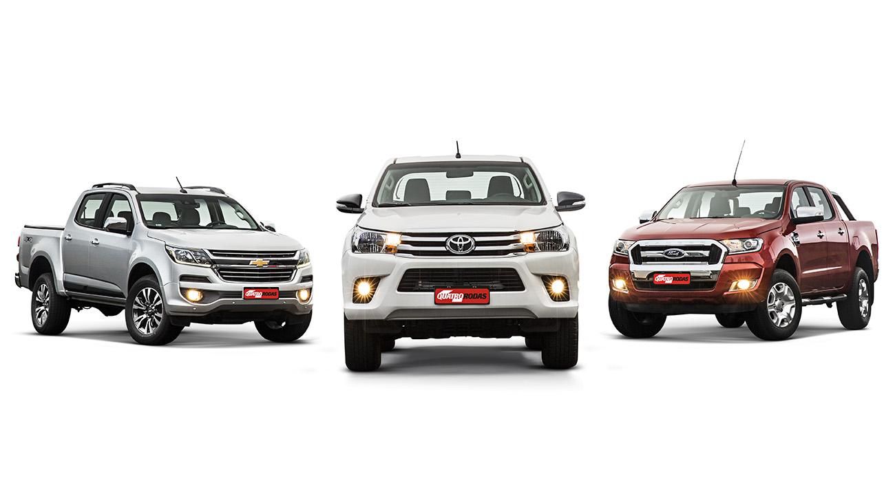 Chevrolet S10 x Toyota Hilux x Ford Ranger