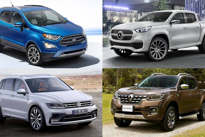 Ford EcoSport, Mercedes-Benz Classe X, VW Tiguan e Renault Alaskan