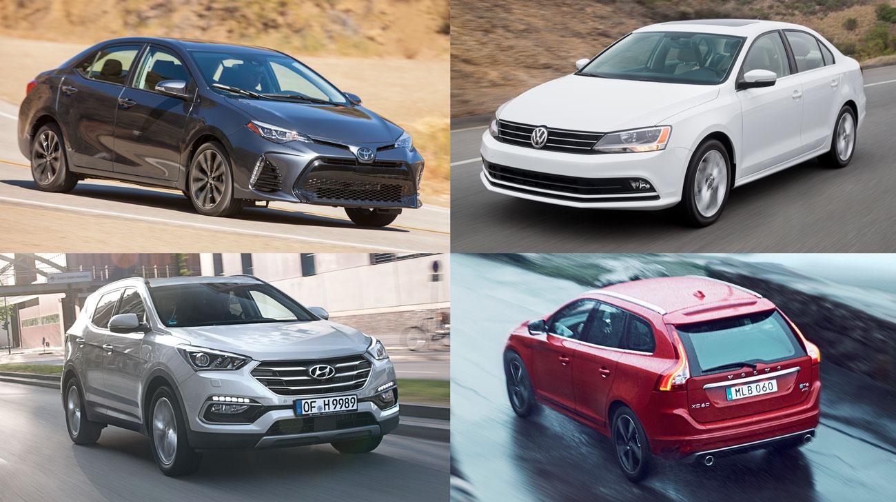 Corolla, Jetta, Santa Fe e XC60 foram alguns que receberam a nota máxima