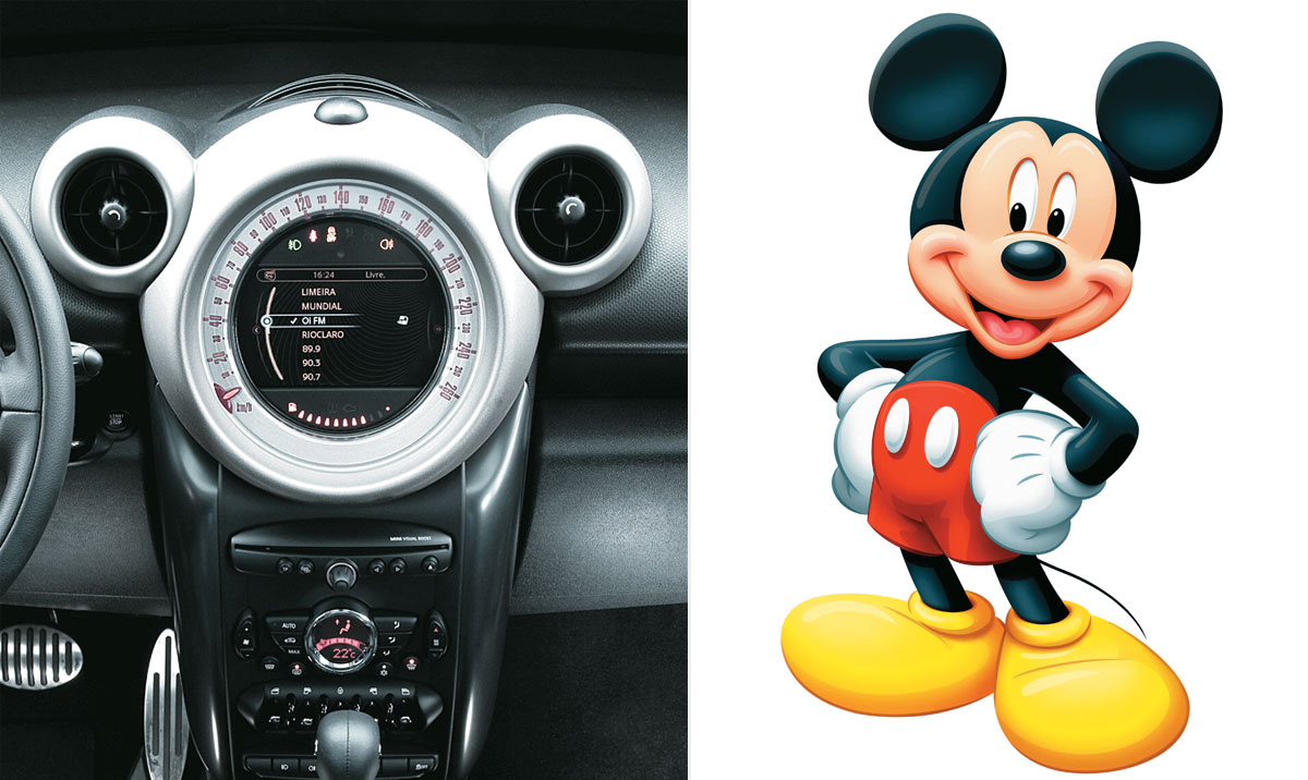 Mini Cooper e Mickey Mouse