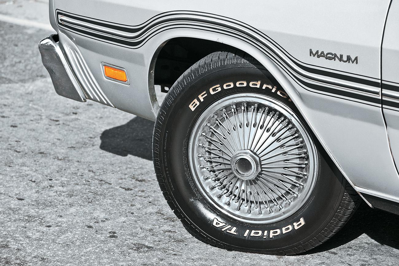 As calotas do Magnum simulavam rodas raiadas