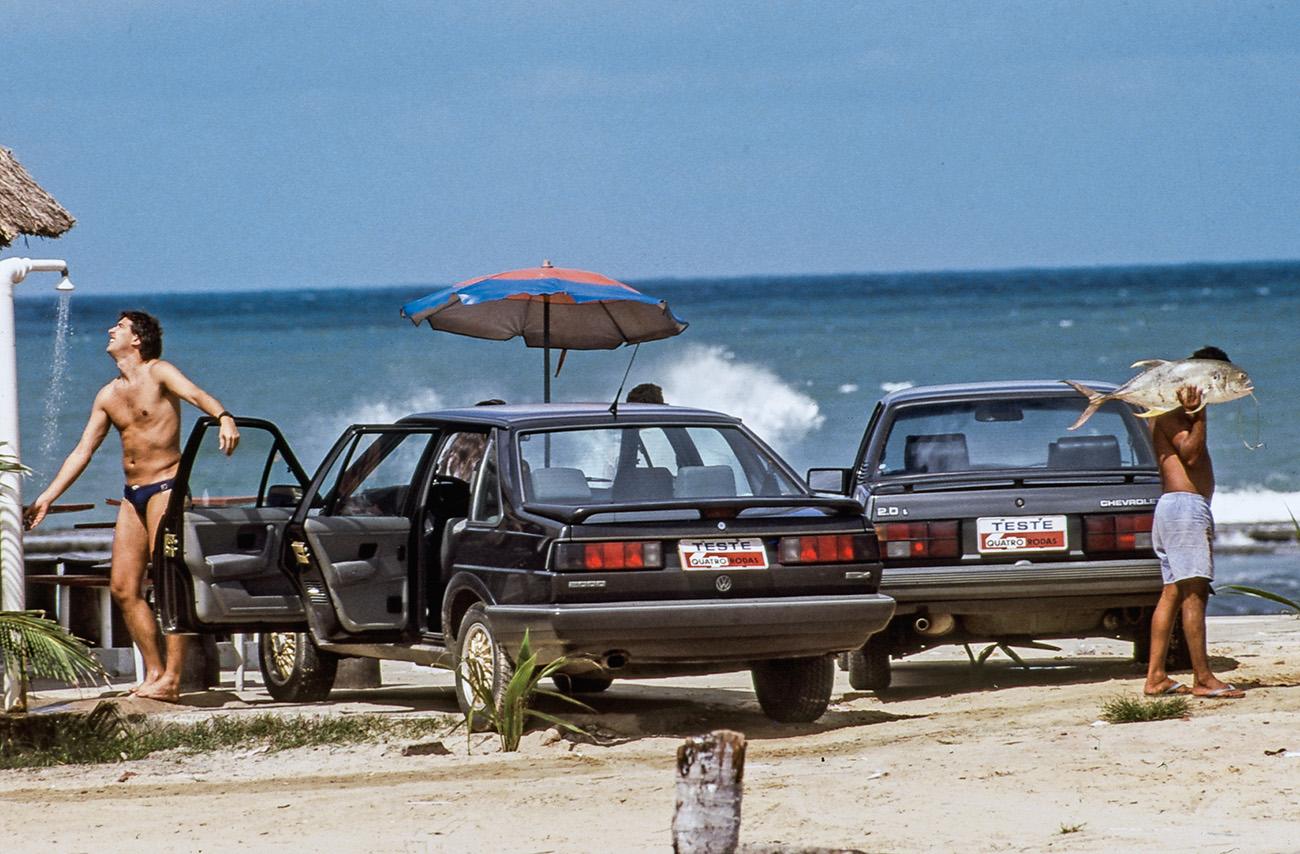 Uma parada para um banho de mar na Praia do Francês, em Maceió