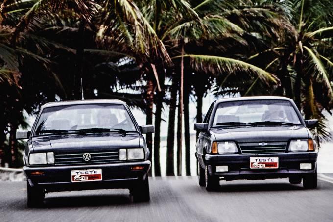 Santana Executivo x Monza 500 EF